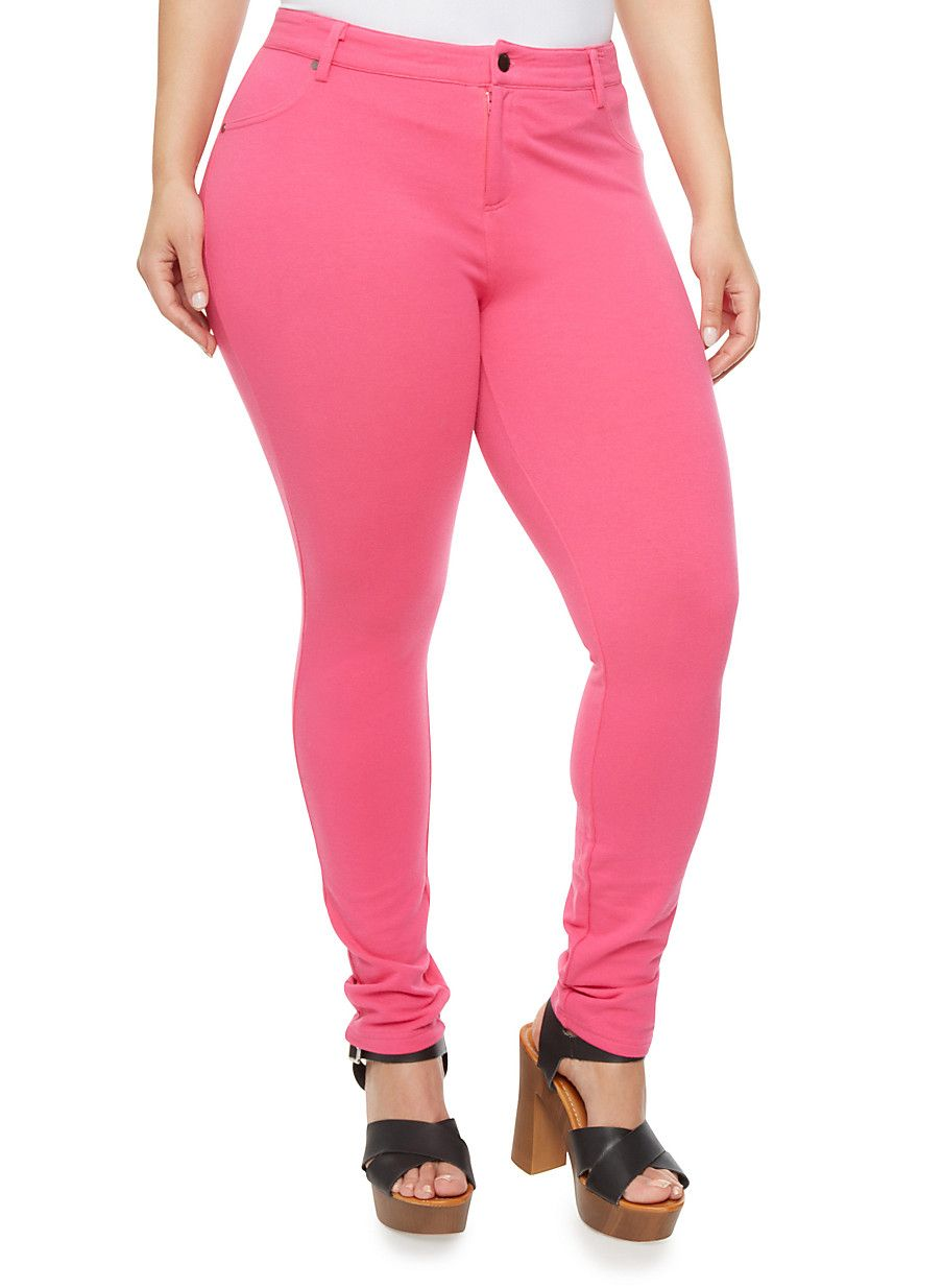 4f4b2331ec5 Rainbow Plus Size Pastel Skinny Pants