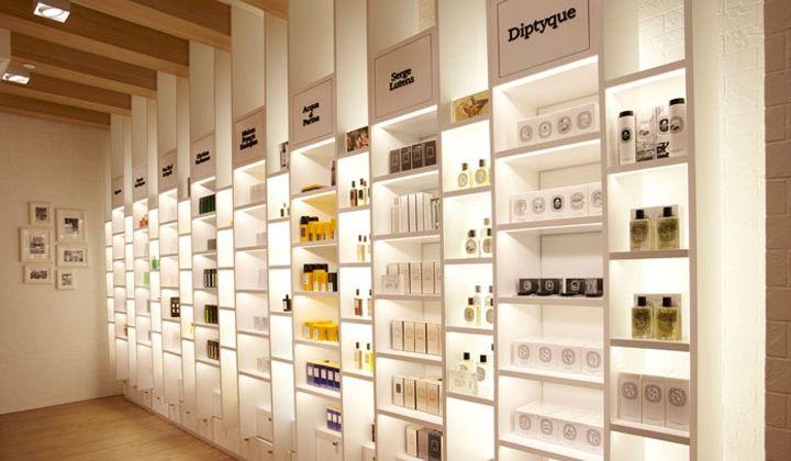 Escentials Concept Store By Asylum Singapore Retail Design Blog Retail Store Design Pharmacy Design Store Design