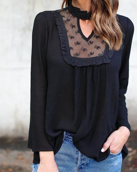 2017 Camisa Female Casual Tops Patchwork Lace Chiffon Blusas Shirt Long-Sleeved T-Shirts Blusa Femin