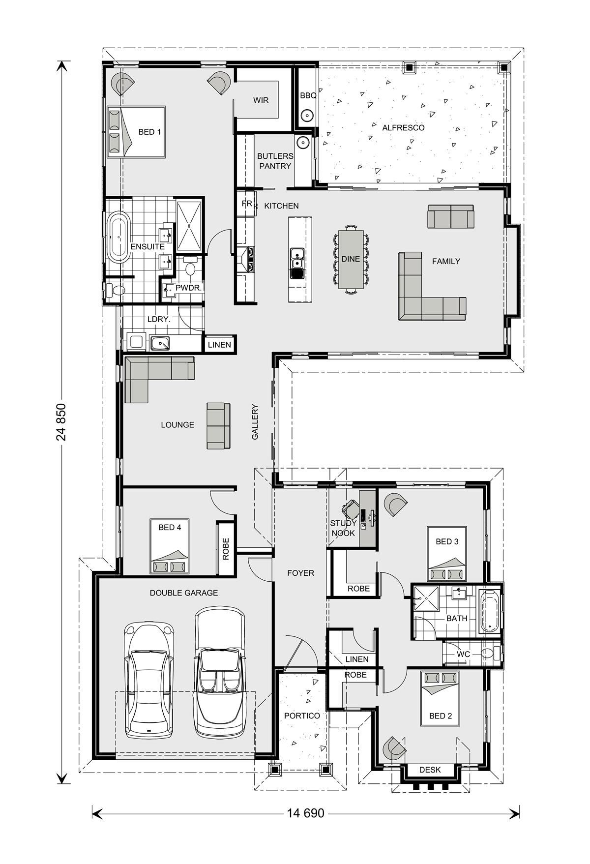 Mandalay 298 Our Designs New South Wales Builder Gj Gardner Homes New South Wales New House Plans Architectural Floor Plans Floor Plans