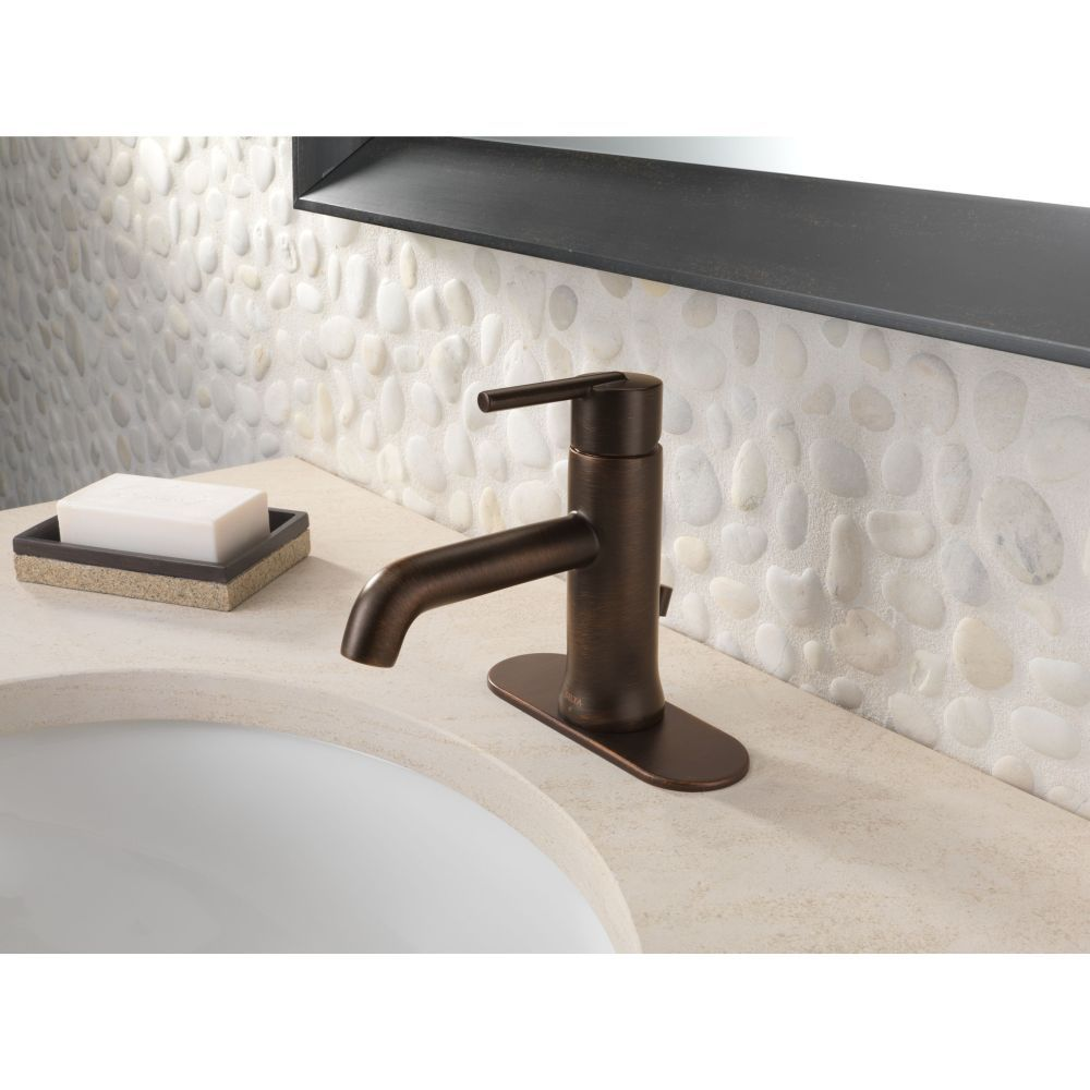 Delta Faucet 559LF-RBMPU Trinsic Venetian Bronze One Handle Bathroom ...
