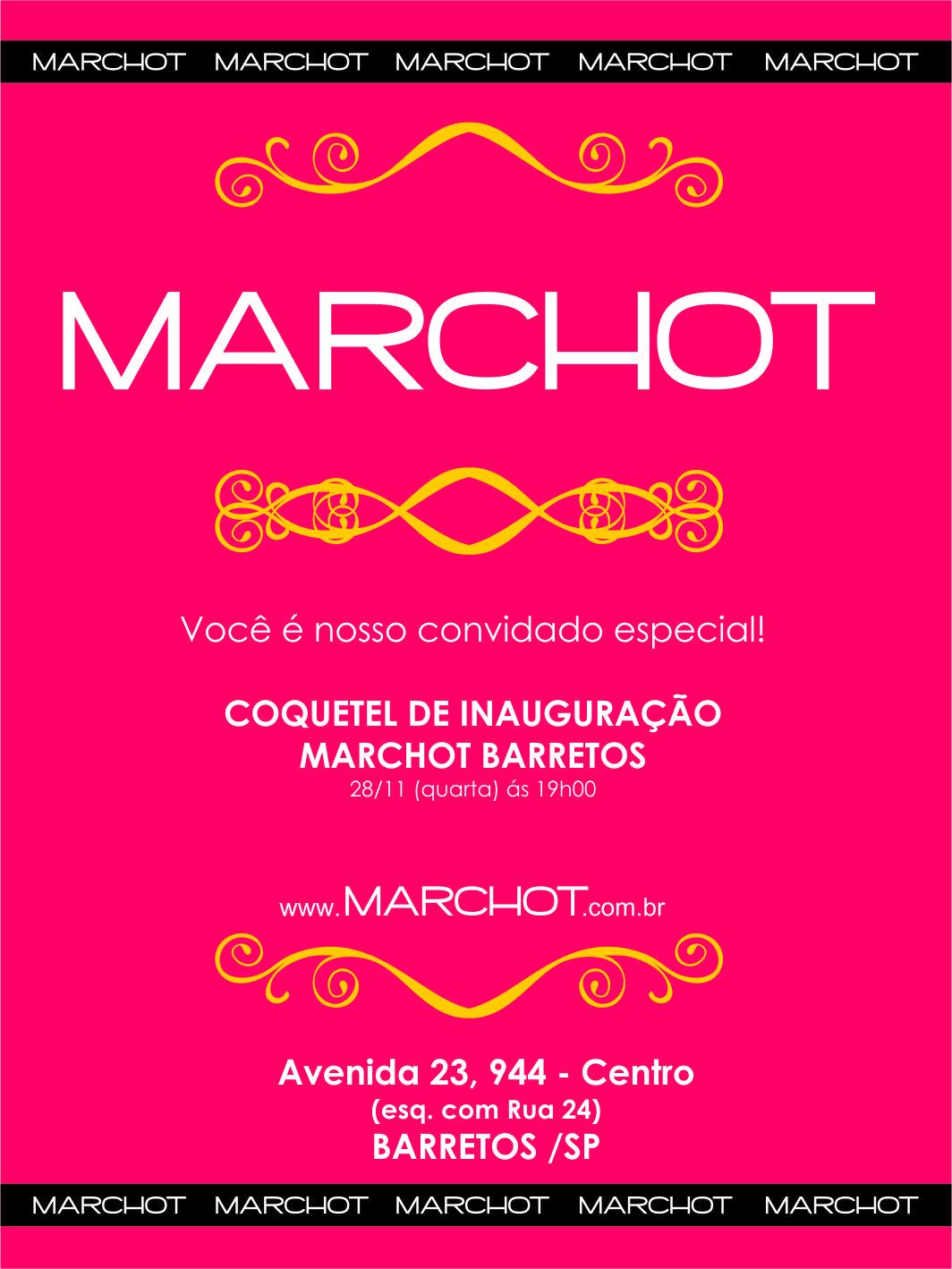 Convite para inauguração Marchot Barretos (Back)