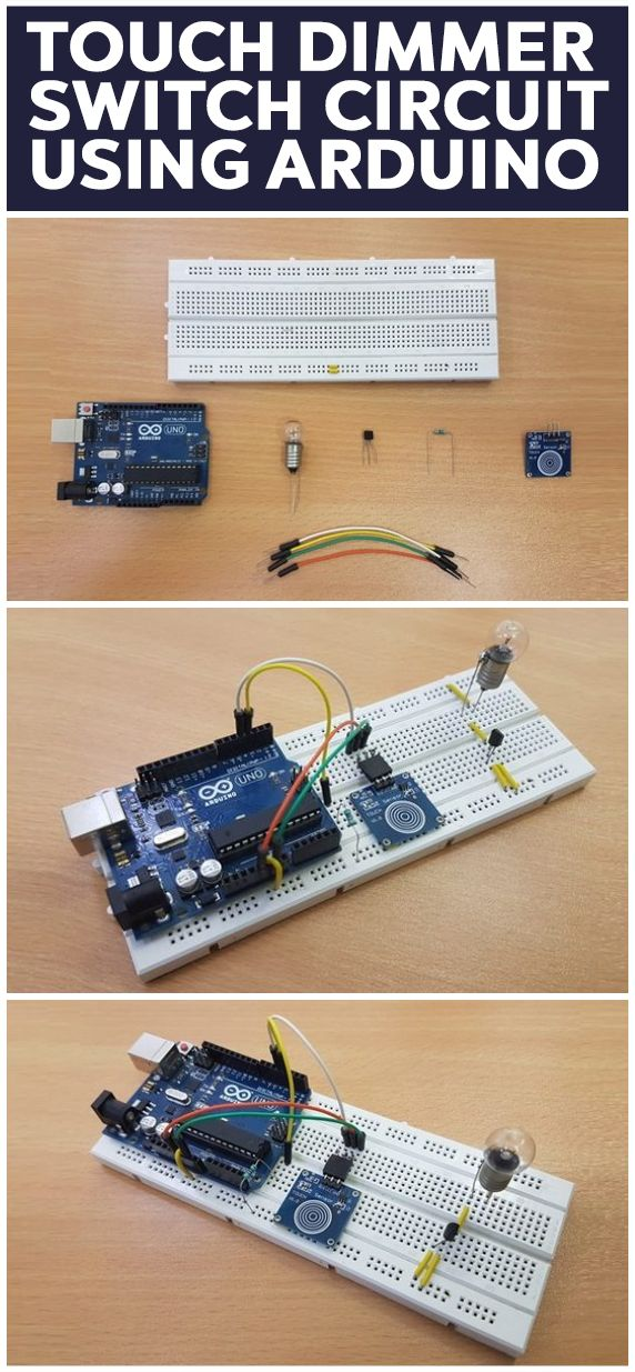 Touch Dimmer Switch Circuit Using Arduino Arduino Arduino Projects Dimmer Switch