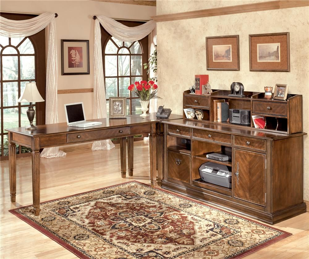 Home Decor Liquidators Memphis: Hamlyn L-Shaped Desk By Ashley Furniture