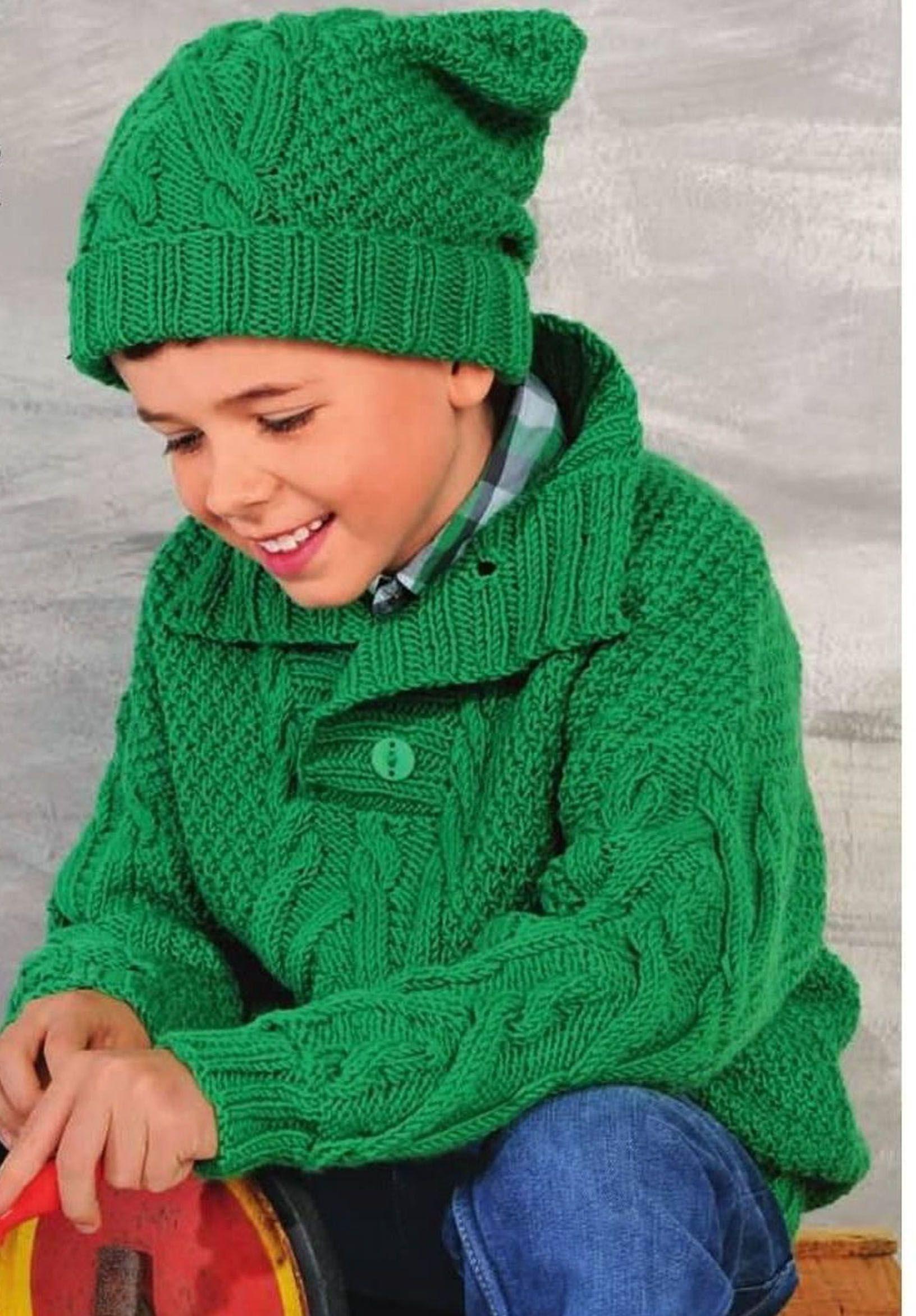 свитер с оленями для ребенка 1.5 года схема вязания спицами