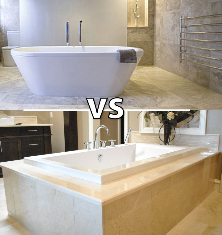Freestanding Versus Drop In Tiled Tub 2015 Says 2 1 For The New
