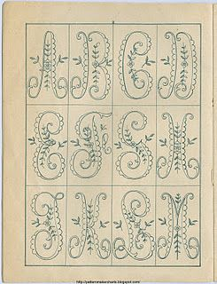 old scalloped alphabet pattern  Free Easy Cross, Pattern Maker, PCStitch Charts + Free Historic Old Pattern Books