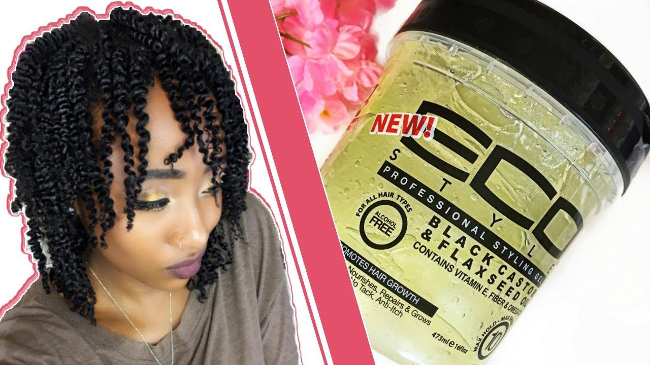 My Best Twist Out Ever Eco Styler Black Castor Flaxseed Oil