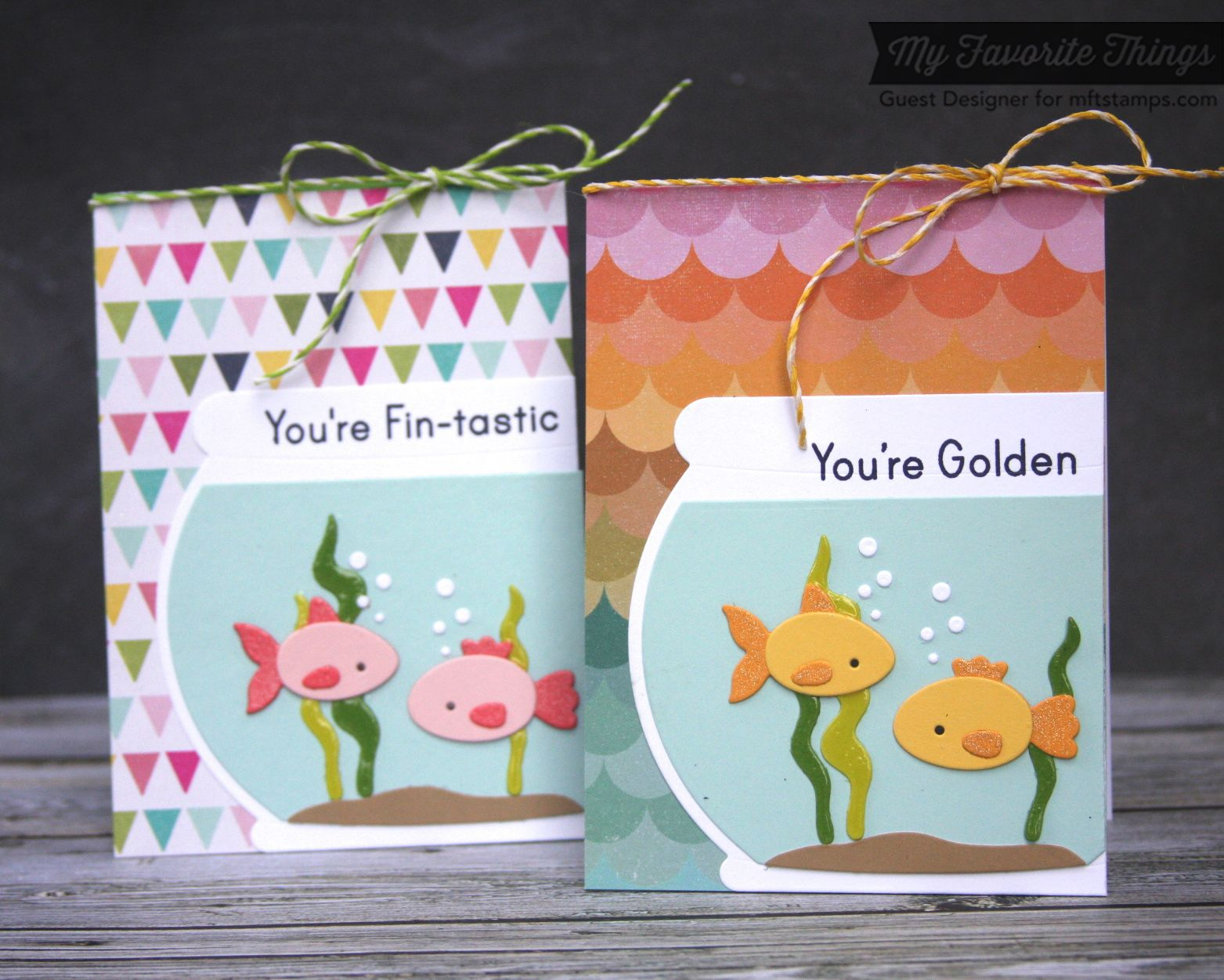 MFT Die-namics Fishbowl dies and the coordinating You're Fin-tastic stamp set
