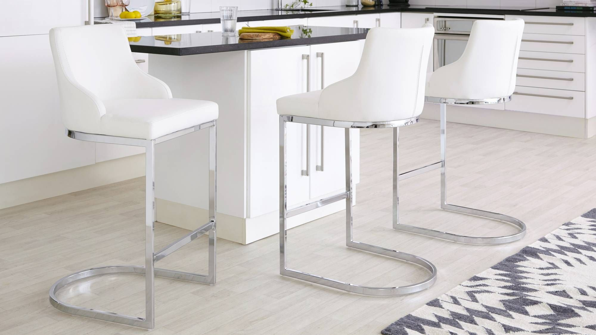 Astonishing Form Chrome Bar Stool With Backrest In 2019 Manatee Ibusinesslaw Wood Chair Design Ideas Ibusinesslaworg
