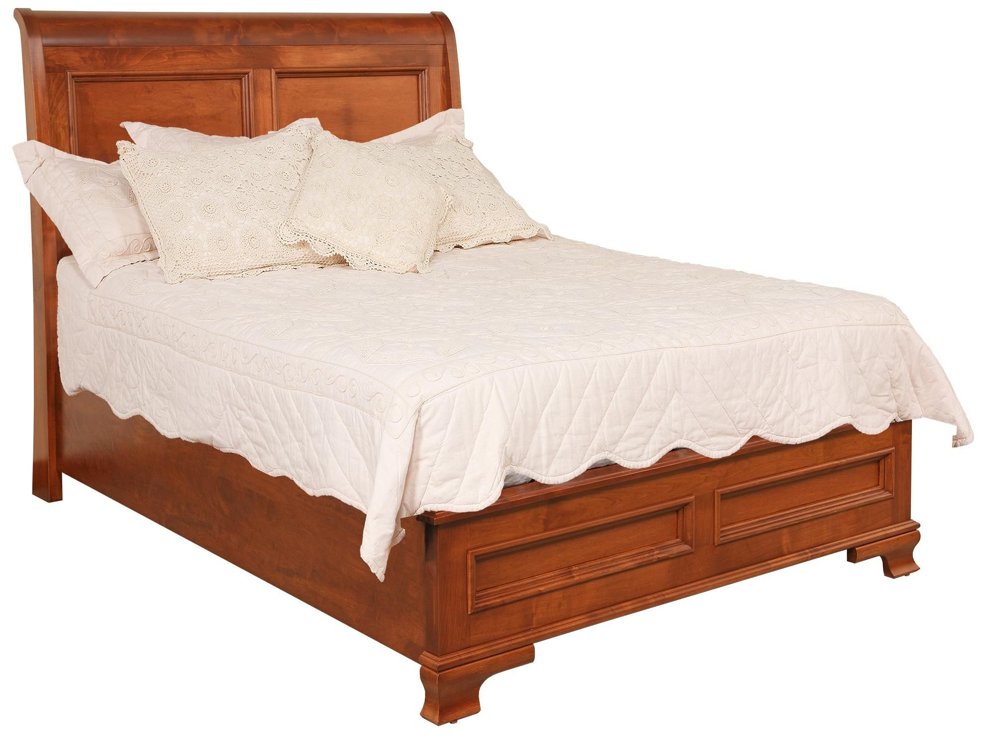 amish classic sleigh bed with low footboard by daniel s amish master