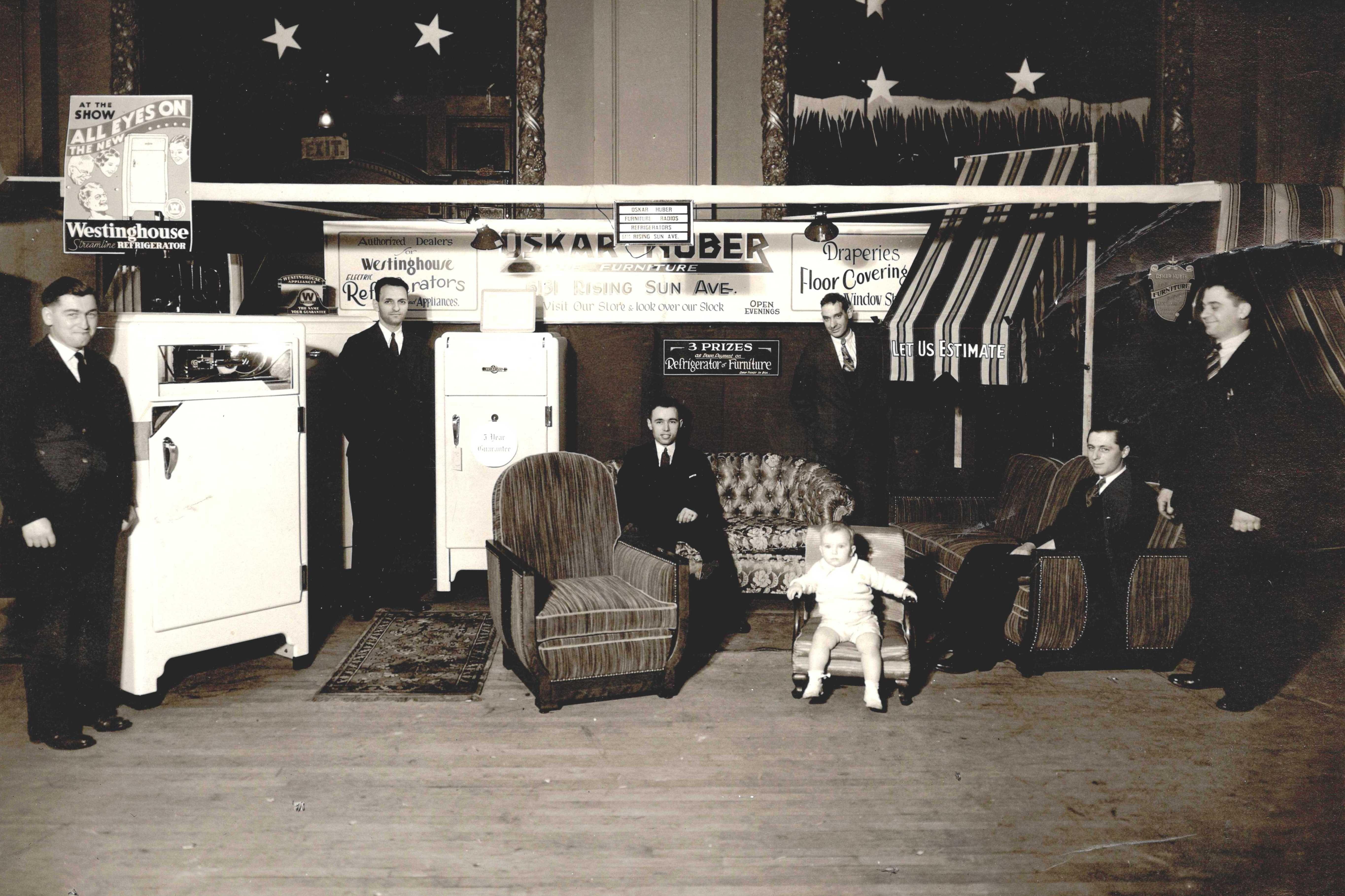 1936 Oskar Huber Furniture display!