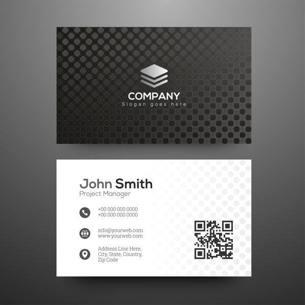 free eps file black pattern business cards design vector download name black pattern business cards