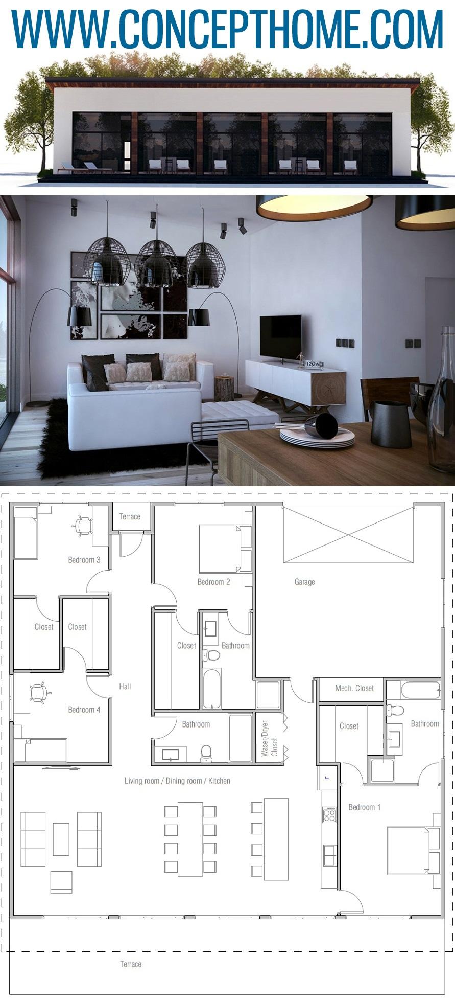 Home Plan Ch443 Modular Home Plans Modern Floor Plans Small House Plans