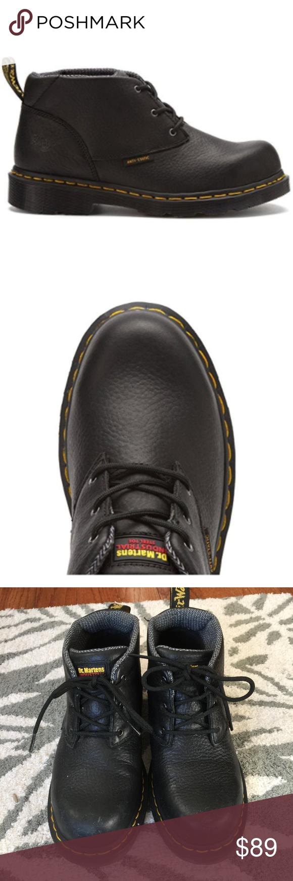 Dr. Martens// Women's Izzi Safety Toe Boots Size 6 UK / 8