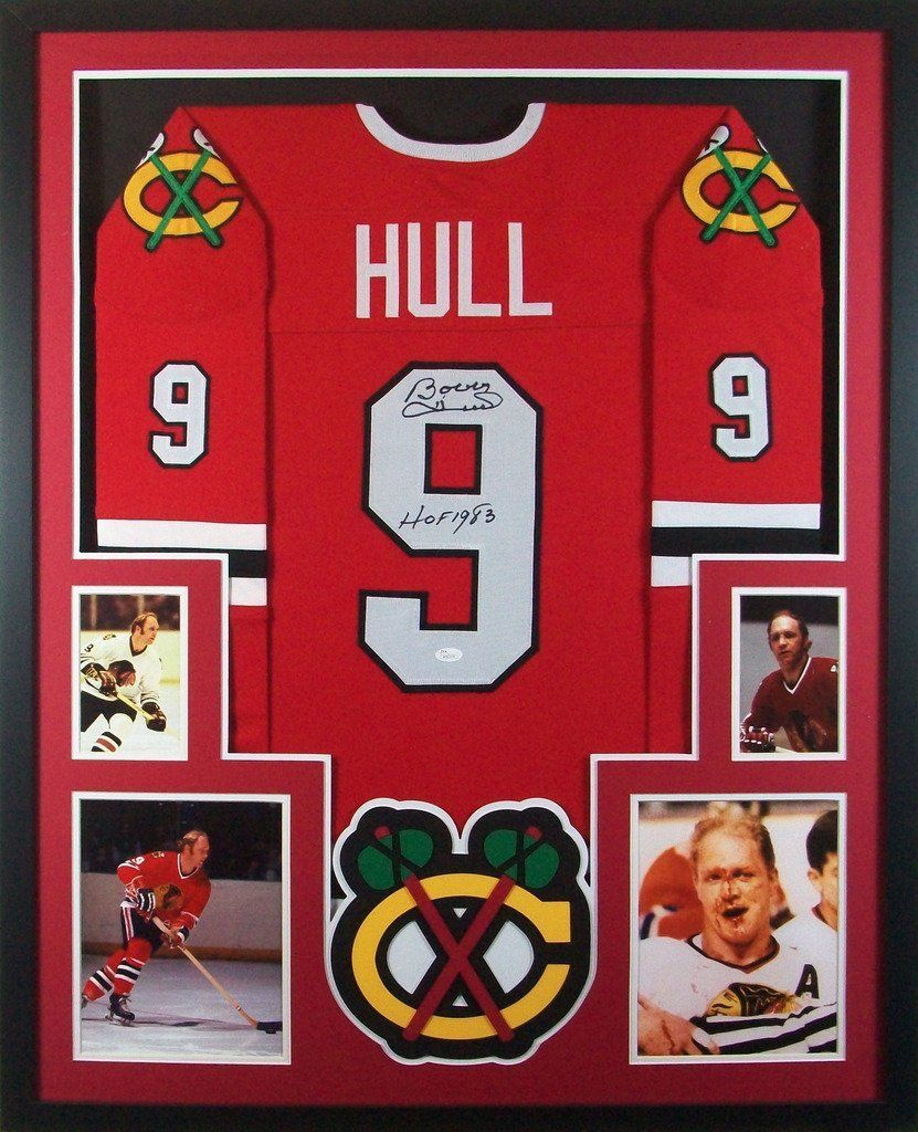 e86e9c44b Bobby Hull Framed Jersey Signed JSA COA Autographed Chicago Blackhawks at  Amazon s Sports Collectibles Store Bobby