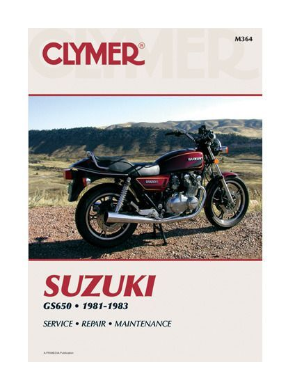 Clymer manual suzuki gs650 1981 1983 repair manuals clymer motorcycle repair manuals are written specifically for the do it yourself enthusiast solutioingenieria