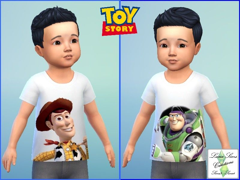 Tee Shiort Toy Story Sims 4 Bebe Bambin Sims 4 Et Sims
