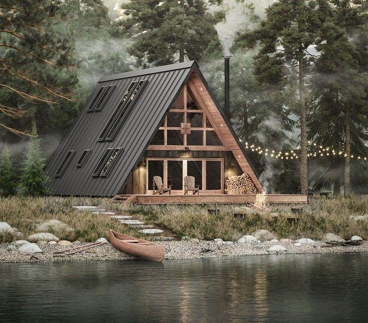 Diy A Modern A Frame House With 2k Blueprints Curbed A Frame