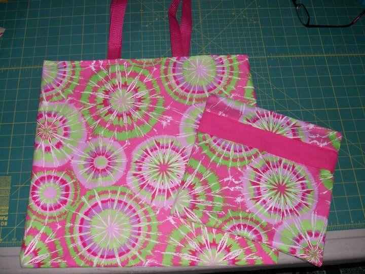 tote bag I made and a make-up bag to match