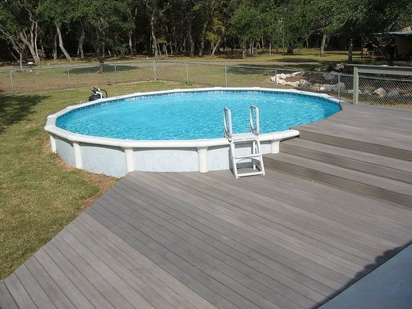 Above Ground Pools Decks Idea   Bing Images. I Like The Deck Color!