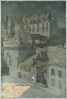 Jules Guerin  from The Chateaux of Touraine published 1906.  Likely a reprint of a watercolor.