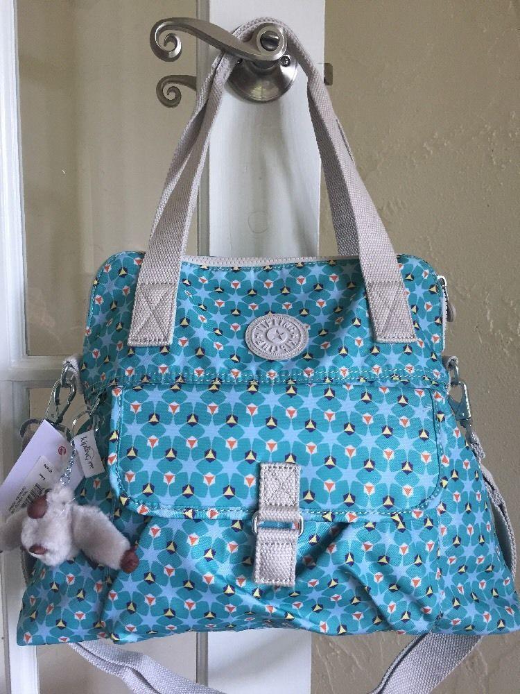 9024f95031 Kipling Pahneiro Shoulder Bag Crossbody Clover Teal Print #Kipling  #ShoulderBag