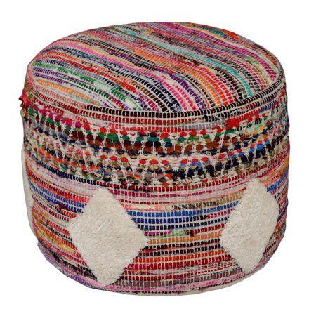 Sensational Lr Home Diamond Multicolor Hand Tufted Cotton Polyester Creativecarmelina Interior Chair Design Creativecarmelinacom