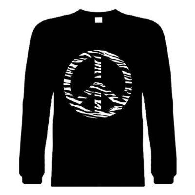 d6598d79c Funny Long Sleeve T-Shirts (ZEBRA PEACE SIGN) Humorous Hilarious Crazy  Slogans &