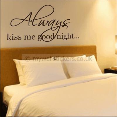 Always kiss me good night bedroom style ideas | Stuff for my dream ...