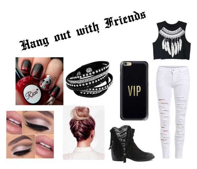 """""""Hang out with Friends"""" by toribabe1990 ❤ liked on Polyvore featuring WithChic, Qupid, Casetify and friends"""