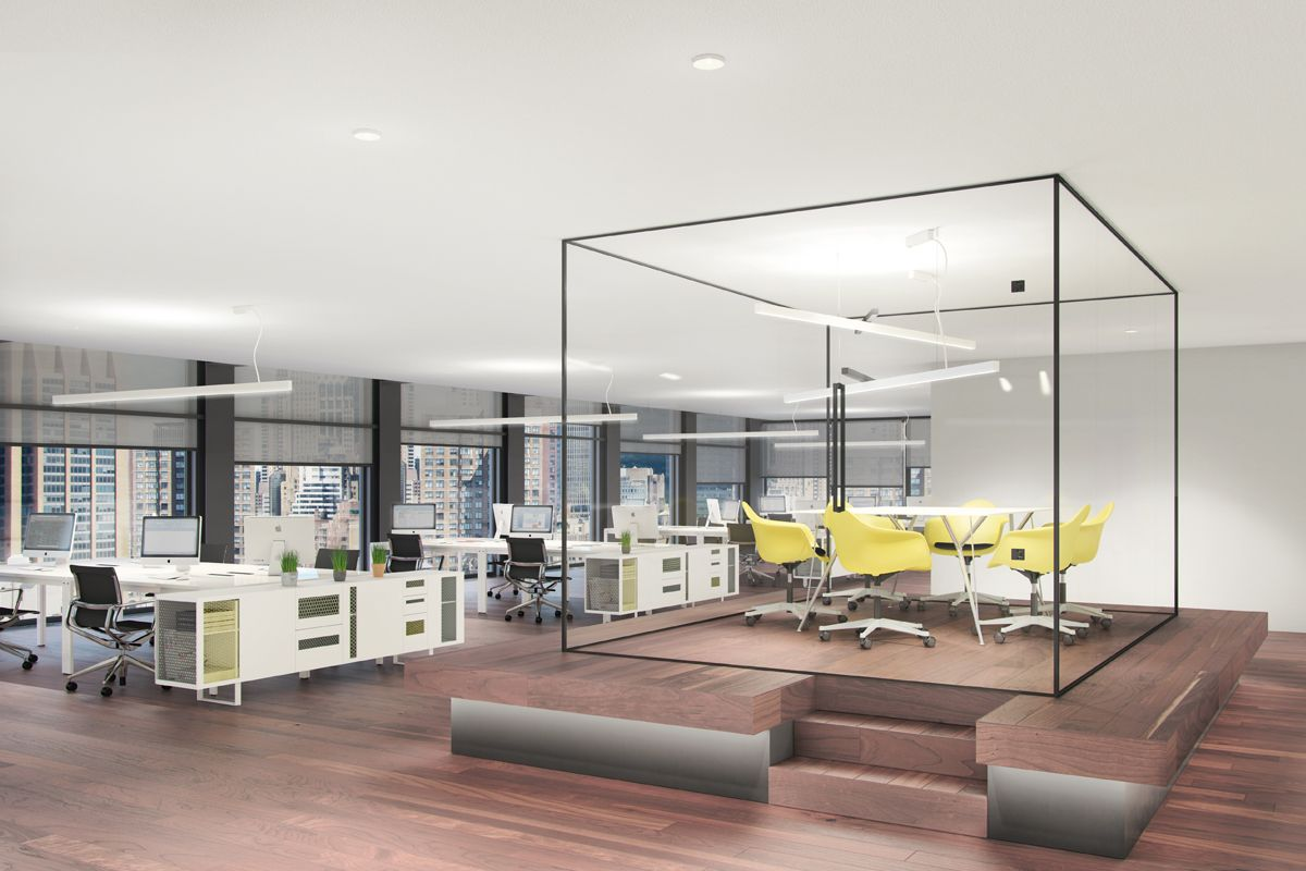 Office With Direct Indirect Lighting