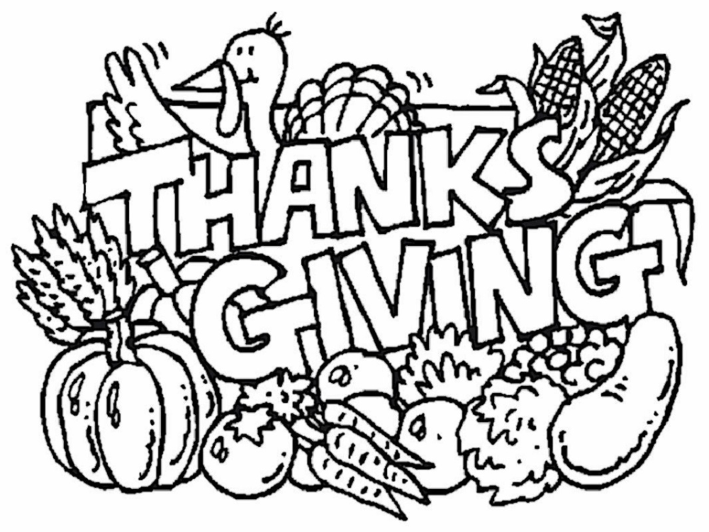 Printable Thanksgiving Coloring Pages. The Thanksgiving