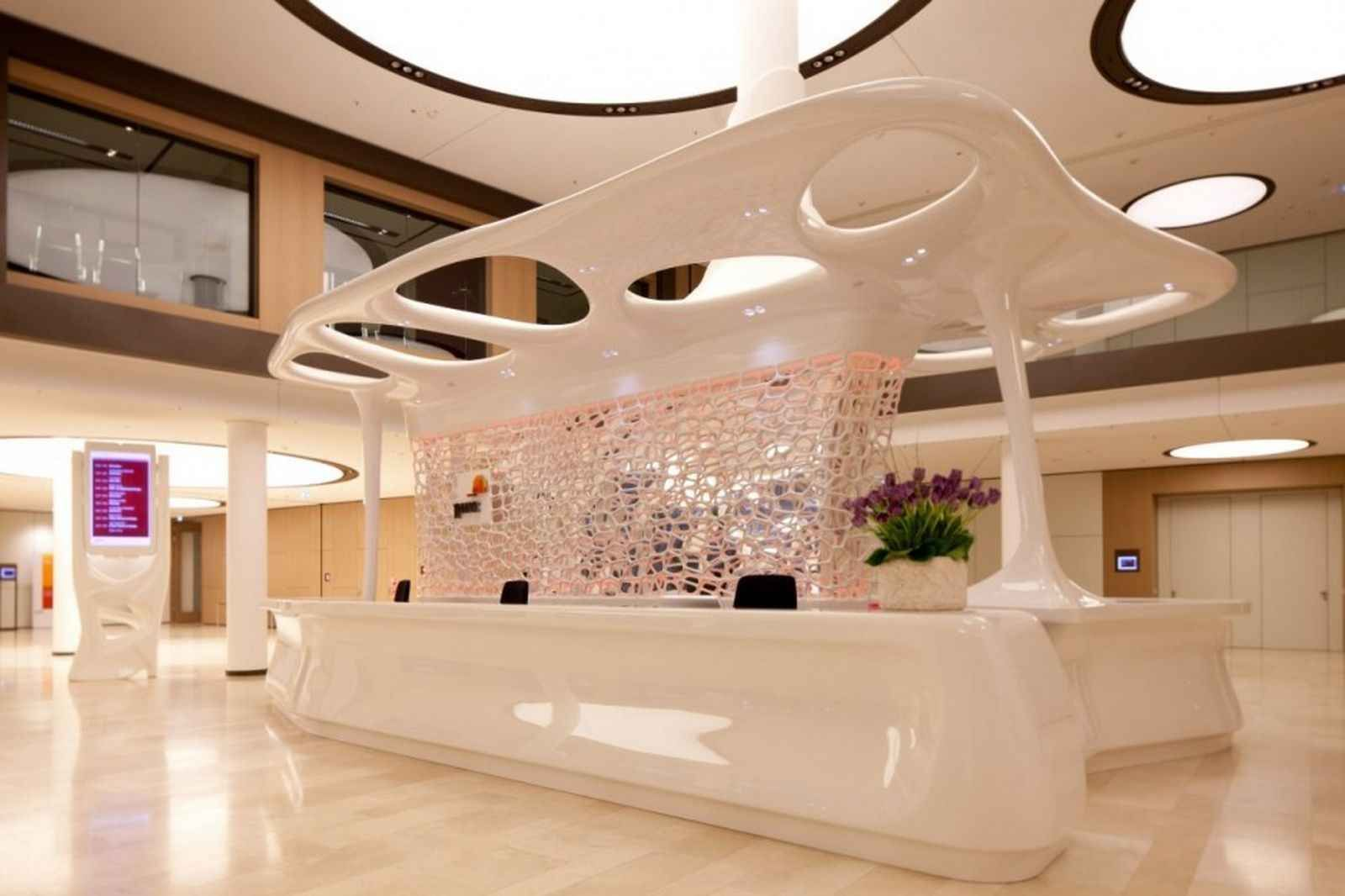 Lobby Reception Desk In Luxury Design
