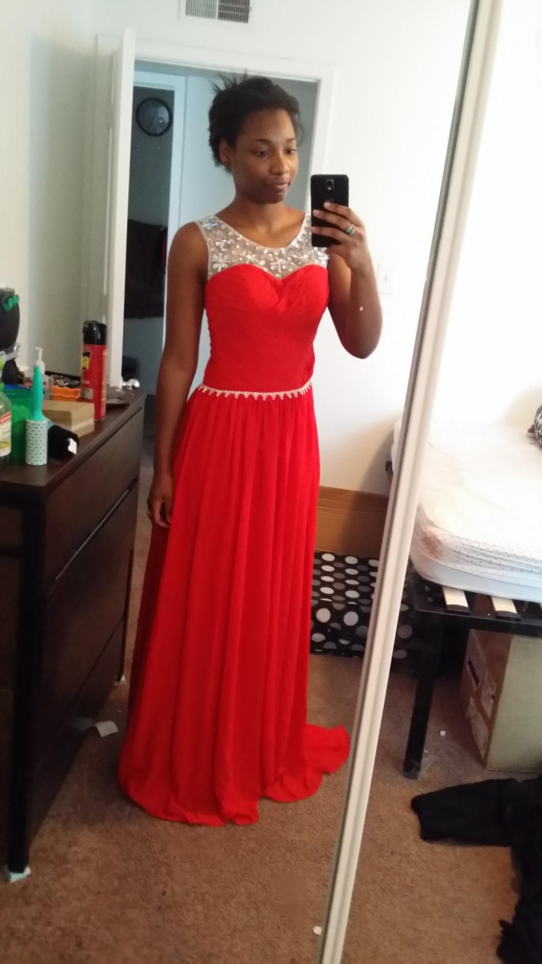 Pin by belleza pura on vestidos pinterest red chiffon prom and