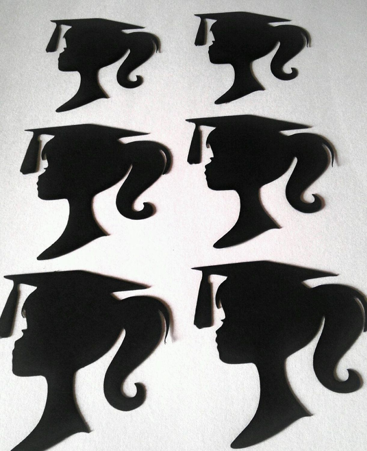 Graduation Barbie Silhouette Die Cuts Set By
