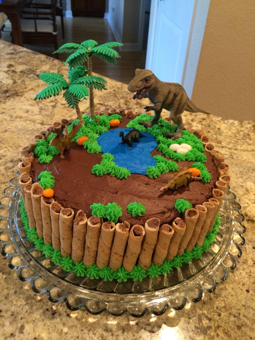 Dinosaur Cake With Images Dinosaur Birthday Cakes Birthday