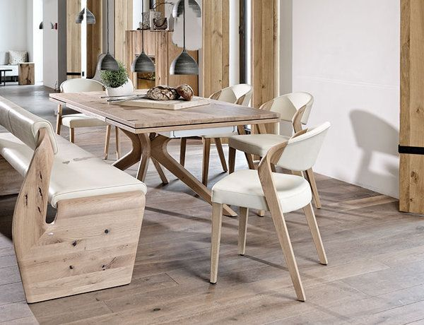 Purist Furniture By V Alpin Made Of Old Oak Wood Provides Exceptional Living Flair Both In Urban And Rural Settings Voglauer Holzstuhle Wohnen