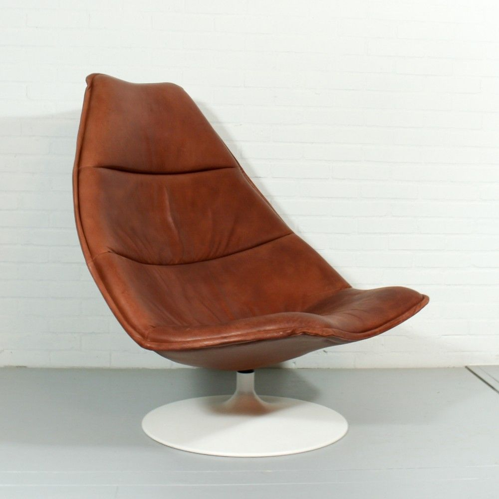 Artifort Stoelen En Fauteuils.F585 Lounge Chair From The Sixties By Geoffrey Harcourt For