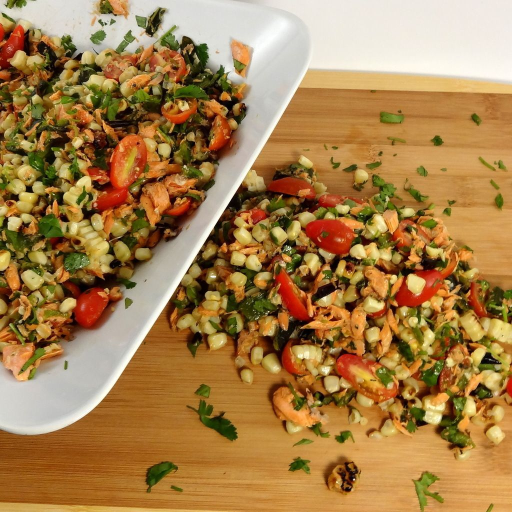 Chargrilled Chipotle Salmon and Corn Salad - Colleen's Kitchen