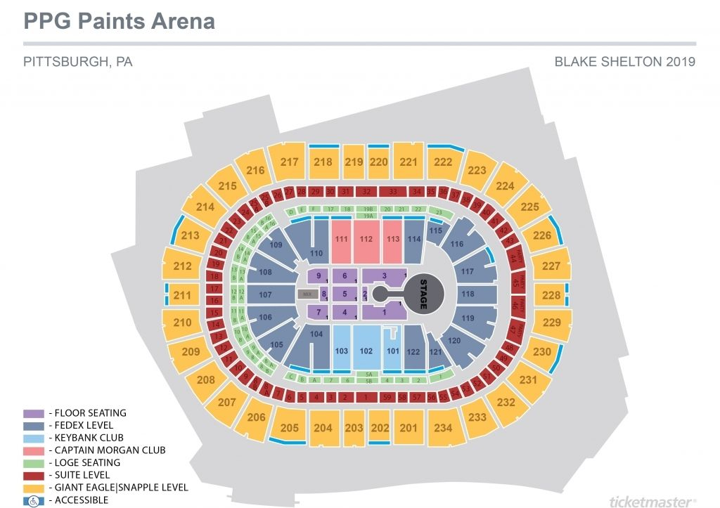 The Incredible And Attractive Ppg Paints Arena Seating Chart With Seat Numbers In 2020 Ppg Ppg Paint Mumford Sons