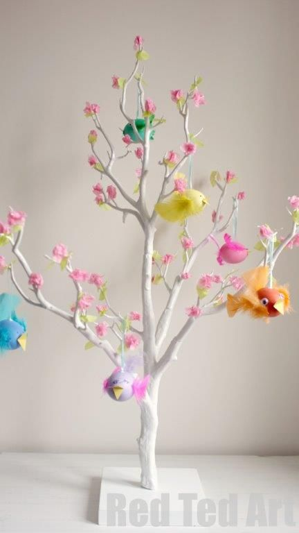 Easter Tree Decorating Ideas Spring Crafts And Learning For Kids