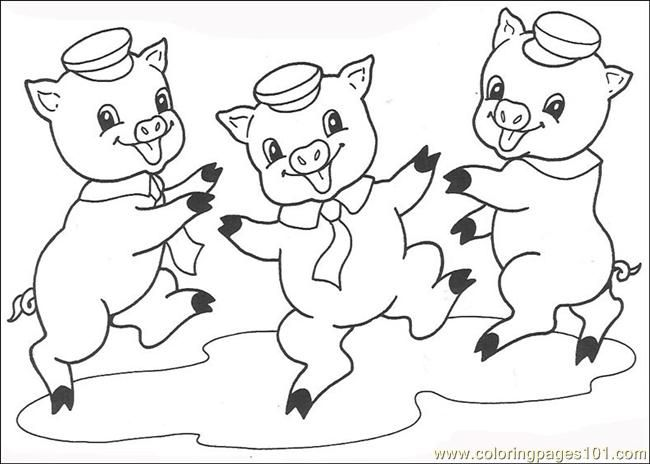Free Printable Coloring Image The Three Little Pigs 11 Super
