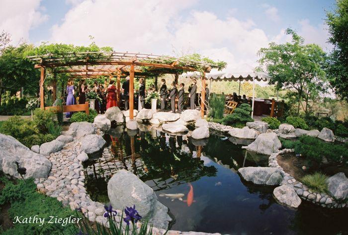 Weddings Around Pond Friendship Garden Ceremony 640 x 480