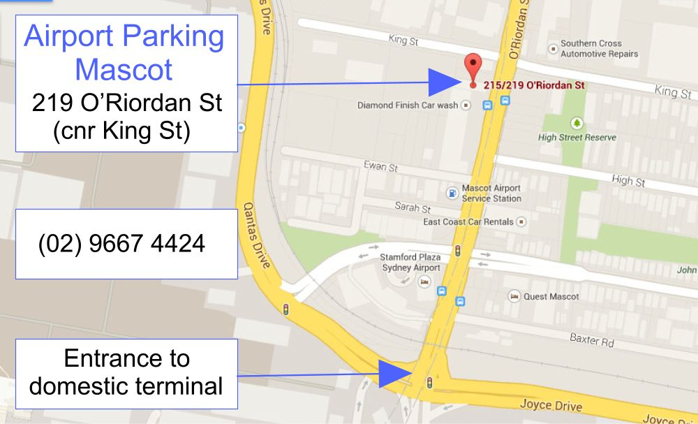 Airport Parking Mascot 219 O'Riordan Street, Mascot