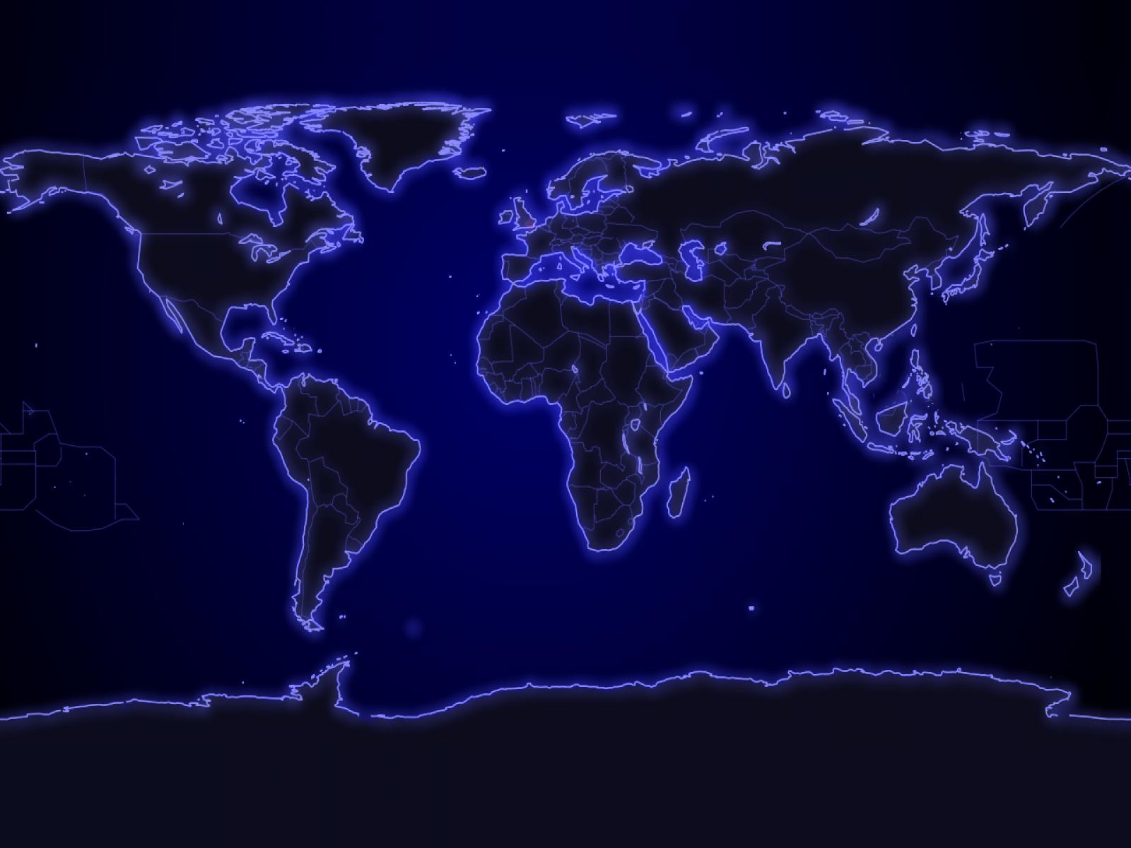 1600 X 1200 World Map Desktop Wallpaper Hd