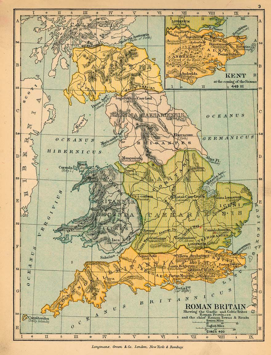 Map Of England 400 Ad.Roman Britain In 400 Ad Source Scott Map Of Britain Roman