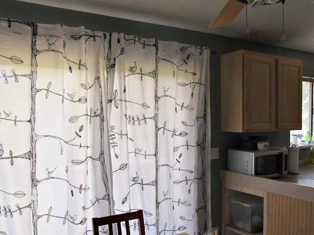 Kitchen Curtains bird kitchen curtains : LINED Curtains- Birds- 3 colours- Custom Curtains- Made to Measure ...