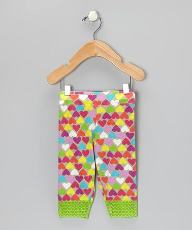 Take a look at this Pink Hearty Party Jada Capri Leggings - Toddler & Girls by Lucky & Me on #zulily today!