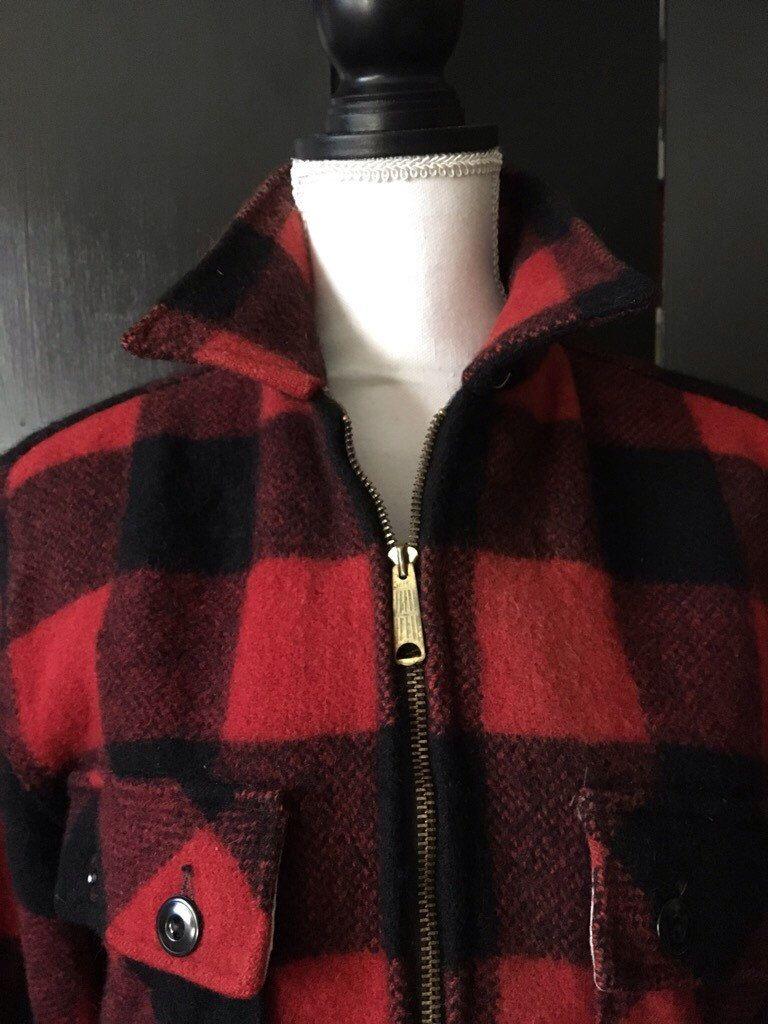 Wool cashmere flannel jacket  VTG Sears Flannel Jacket us Mens M Ladies L by